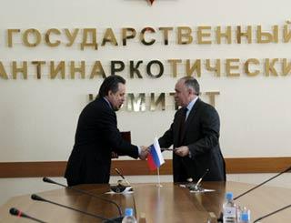 Подписано Соглашение о взаимодействии между Минспорттуризмом России и ФСКН России