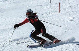 Александра Григорченко победила на всероссийских соревнованиях по горнолыжному спорту