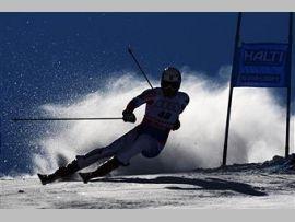 Сергей Майтаков - победитель этапа Кубка Европы в слаломе-гиганте в Швейцарии!