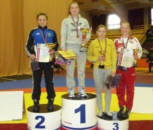 Две медали привезли наши девушки с первенства России по вольной борьбе