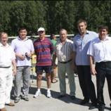 Официальная делегация руководства Союза биатлонистов России в Новосибирске