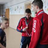 Волейболисты НЦВСМ провели урок сурдспорта в школе-интернате №37
