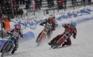 Завершились I и II этапы командного Чемпионата России по мотогонкам на льду