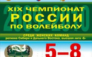 В НЦВСМ пройдет II тур XIX чемпионата России по волейболу