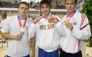 3 золотые медали Антона Лобанова!