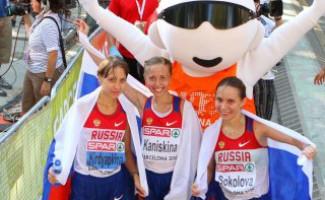 Российские спортсменки заняли весь пьедестал в ходьбе на 20 км на Чемпионате Европы по легкой атлетике