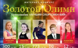 Определился победитель майского этапа конкурса «Золотой Олимп»